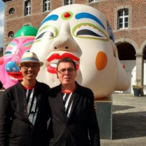 """Benoit + Bo"", duo d artistes franco-chinois, exposant a Binche, jusqu au 03 novembre (c) ""La Meuse"""