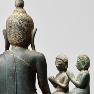"""Bouddha et deux Disciples (c) """"Famarte Asian Art"""" (c) """"Caracas"""""""