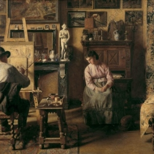 """""""L Atelier"""" (1873) (c) Henri De Braekeleer"""