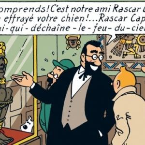 """La momie de """"Rascar Capac"""", telle que dessinee par (c) """"Herge/Moulinsart"""" 2019"""