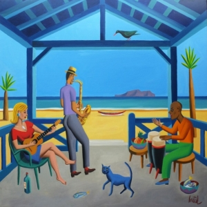 """Beach Music"" (c) Jacques de Loustal/""Huberty & Breyne Gallery"""