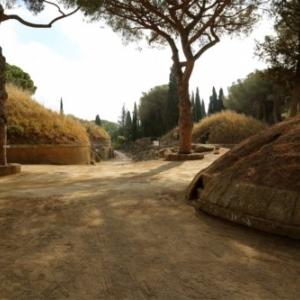 A Cerveteri (Italie), la necropole antique etrusque de Banditaccia (IXe-IIIe siecle avant notre ere)