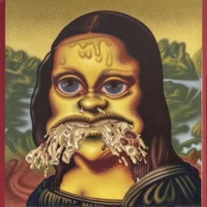 """Mona Lisa throws up Macaroni"" (1995) (c) Peter Saul/""Artist s Rights Society"", New York/Photo : S. Leonard"
