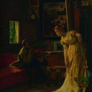 """""""L Atelier"""", 1869, 94 x 71 cm (c) Alfred Stevens/""""Musees Royaux des Beaux-Arts de Belgique"""""""