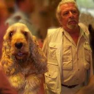Jean Roba et son cocker