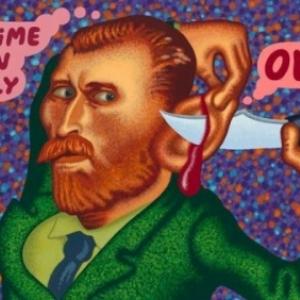 """Van Gogh cuts off his Ear"" (2019) (c) Peter Saul/""Artist s Rights Society"", New York"