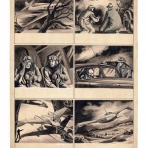 """De gauche a droite, """"Herge"""" (Georges Remy) et Jacques Martin (c) """"Collection Jacques Martin"""""""