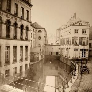 Photo de la Senne, avant son voutement (c) Louis Ghemar/Collection privee