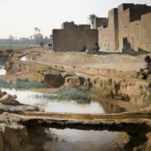 """""""La Seguia, pres de Biskra"""" (1885/100 x 155,5 cm/""""Musee d Orsay""""/Paris)"""