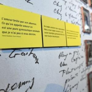 Citation de Baudelaire, sur l Amour (c) Musee de la Ville de Bruxelles