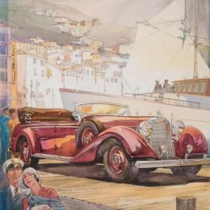 """""""Mercedes-Benz des Annees 1930"""" (c) Henry Kolodziej/""""Berko Fine Paintings"""""""