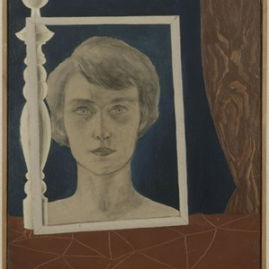 """""""Portrait de Georgette au Bilboquet"""" (René Magritte/1926/55 x 45) (c) """"Succession Rene Magritte"""" / """"SABAM Belgium 2019"""""""