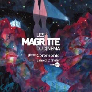 "L Affiche officielle des 9emes ""Magritte du Cinema"" realisee par Brecht Evens"
