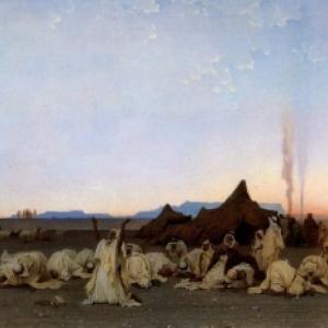 """Priere du Soir au Sahara"" (1863/137 x 285 cm/""Musee d Orsay""/Paris)"