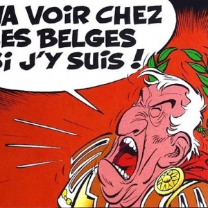 "Jules Cesar, dans ""Asterix chez les Belges"" (c) Albert Uderzo/""Dargaud""/1979"