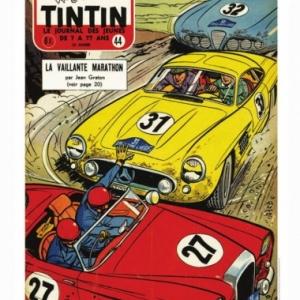 """Couverture du """"Journal Tintin"""" 44, de 1957 (c) Jean Graton/Graton Editeur 2018"""