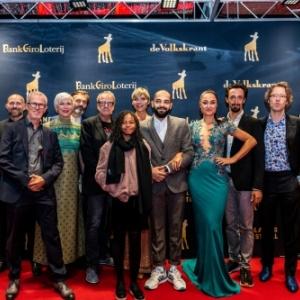 """L equipe de """"Rafael"""", pour sa Premiere mondiale, au 38eme """"Nederlands Film Festival"""", a  Utrecht"""