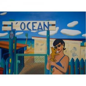 """""""L Ocean"""" 100 x 73 cm (c) Jacques de Loustal"""