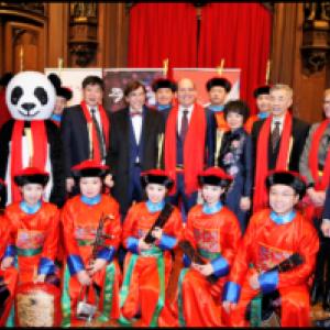 """Presence de Richard Fournaux à l Hotel de Ville de Bruxelles (c) """"Xinhua News Agency"""""""