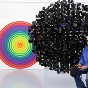 Julio Le Parc, grand Maitre de l'Art optique et cinetique (c) Yamil Le Parc.