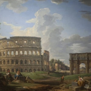 """Vue du Colisee""/Giovani Paolo Panini (c) ""Musee Thomas Henry"""