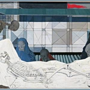 """""""La Mise au Tombeau"""" (1953) (c) Paul Delvaux (c) Ville de Liege-Sabam 2018"""