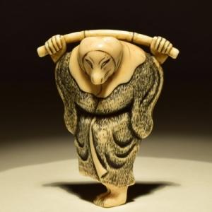 """Netsuke"" en ivoire, de la periode ""Edo"" (c) ""Nohara Japonese Art"""