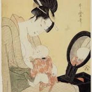 """Un Enfant au Sein"" (K. Utamaro)"