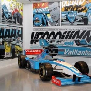 """Une Formule 1 """"Vaillante"""", au sein d'un espace dedie a Michel Vaillant, a (c) """"Autoworld"""""""