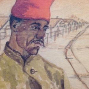 Portrait du Tirailleur senegalais