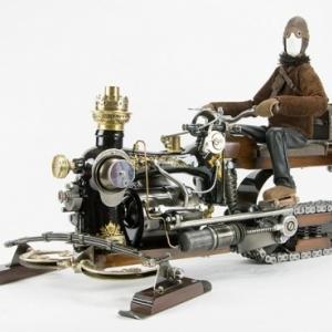 """Realise avec une machine a coudre, un explorateur de (c) Daniel Pessel/""""Cafmeyer Gallery"""""""