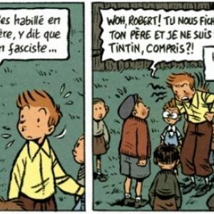 """Deux cases, en clin d oeil à """"Tintin"""", dans """"Le Journal d un Ingenu"""" (c) Emile Bravo/""""Dupuis"""""""