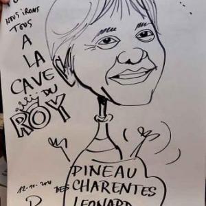 La Cave du Roy-photo 4712-caricature de Jean-Marie Lesage