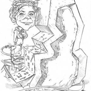 caricature de Caroline RUIZEVELD par Olivier Claudon