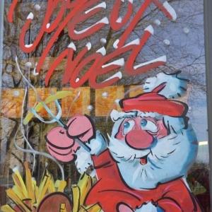 vitrine peinte de Jean-Marie Lesage pour NOEL