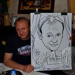 Caricature de Bernard Suin par Jean-Marie Lesage - photo 3724