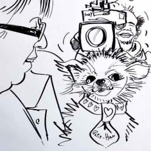 caricature minute cameraman TV FR1