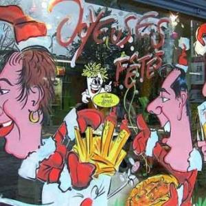 Liege - Peinture sur vitrine pour Noel-7525