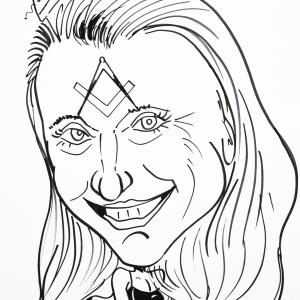 caricature sur papier Emanuellle Praet