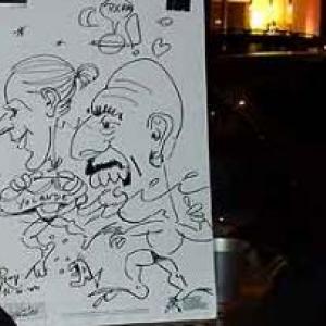 Caricature au Frenchie Restaurant de Luxembourg-7055