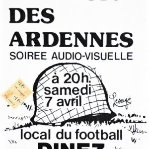"""Affiche du 7 avril 1984 pour """"Houffalize se souvient"""""""