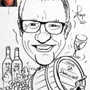 caricature minute vin