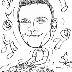 caricature DJ