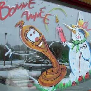 Peinture sur vitrine pour Noel-7452