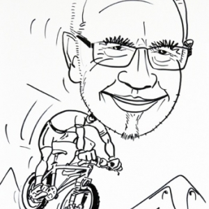 caricature vtt houffaBike
