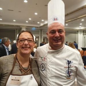 Stephanie Remacle avec Antonio Morreale, Coupe du Monde ,Tiramisu , Italie