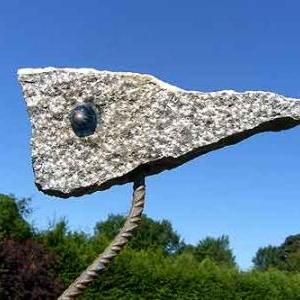 Heron est une sculpture de Brigitte Danse