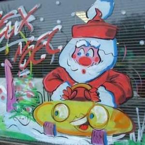 Peinture sur vitrine pour Noel-7441