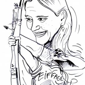 EIFFAGE-caricature-tir arc