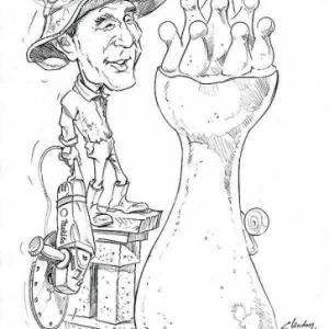 caricature de Kazuyoshi Hirai par Olivier Claudon